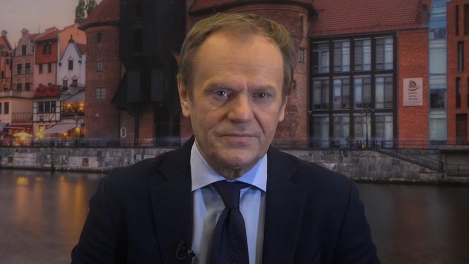 Donald Tusk wystąpił w styczniu na kongresie niemieckiej partii CDU