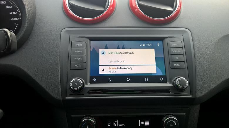 Android Auto - menu główne