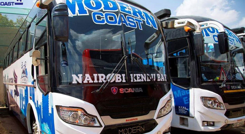 6 Modern Coast buses intercepted at night