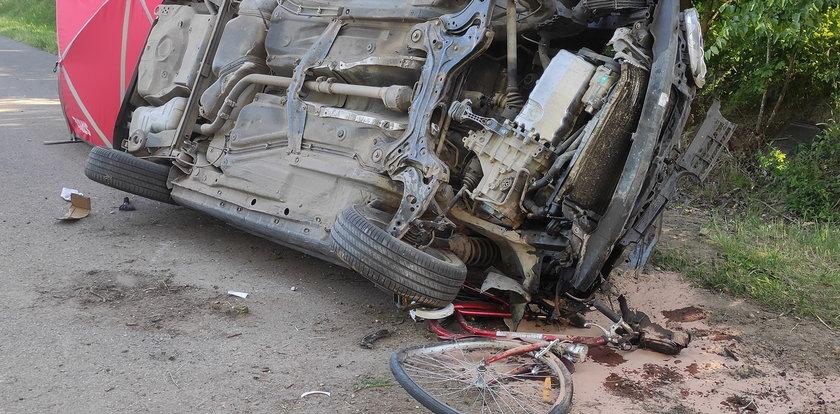 Tragiczny wypadek pod Teolinem. Rowerzystka nie miała szans na przeżycie