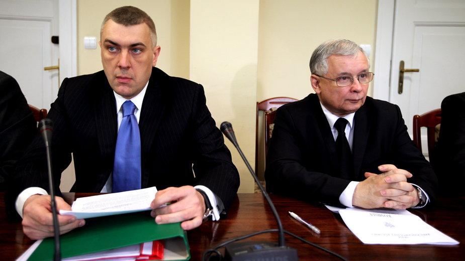 Roman Giertych i Jarosław Kaczyński w 2011 r.