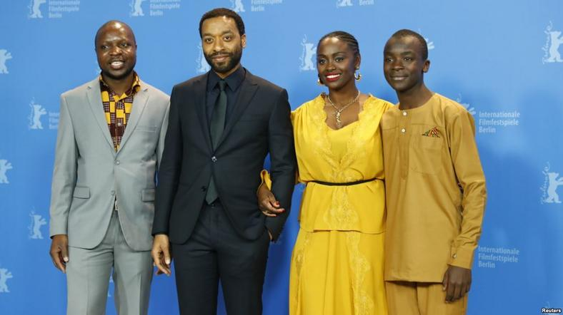 Chiwetel Ejiofor and actors William Kamkwamba, Maxwell Simba, Aissa Maiga [reuters]