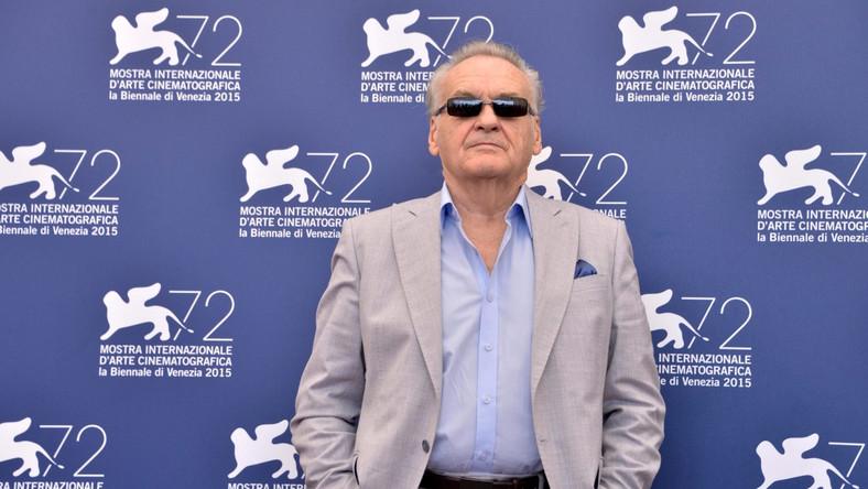 Jerzy Skolimowski podczas spotknia z dziennikarzami w Wenecji