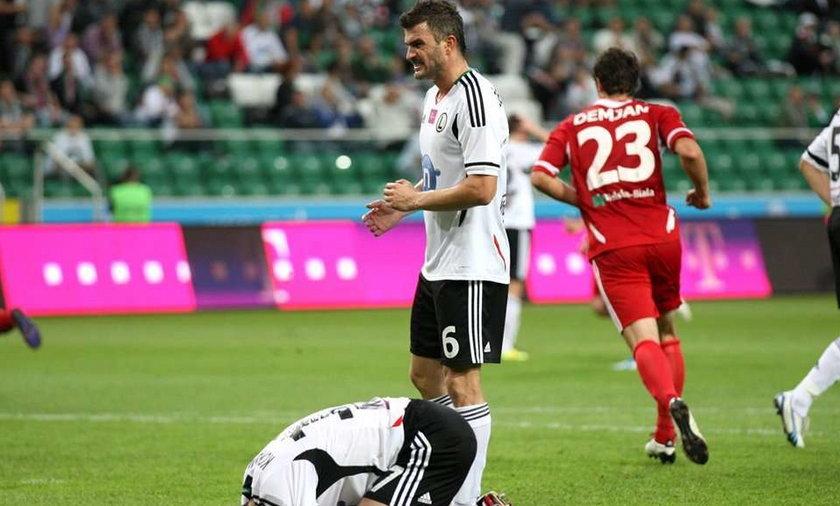 Piłkarze Legii zostaną ukarani za porażkę z Podbeskidziem