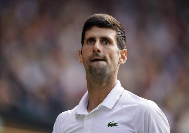 Novak Đoković na finalu Vimbldona 2019. godine