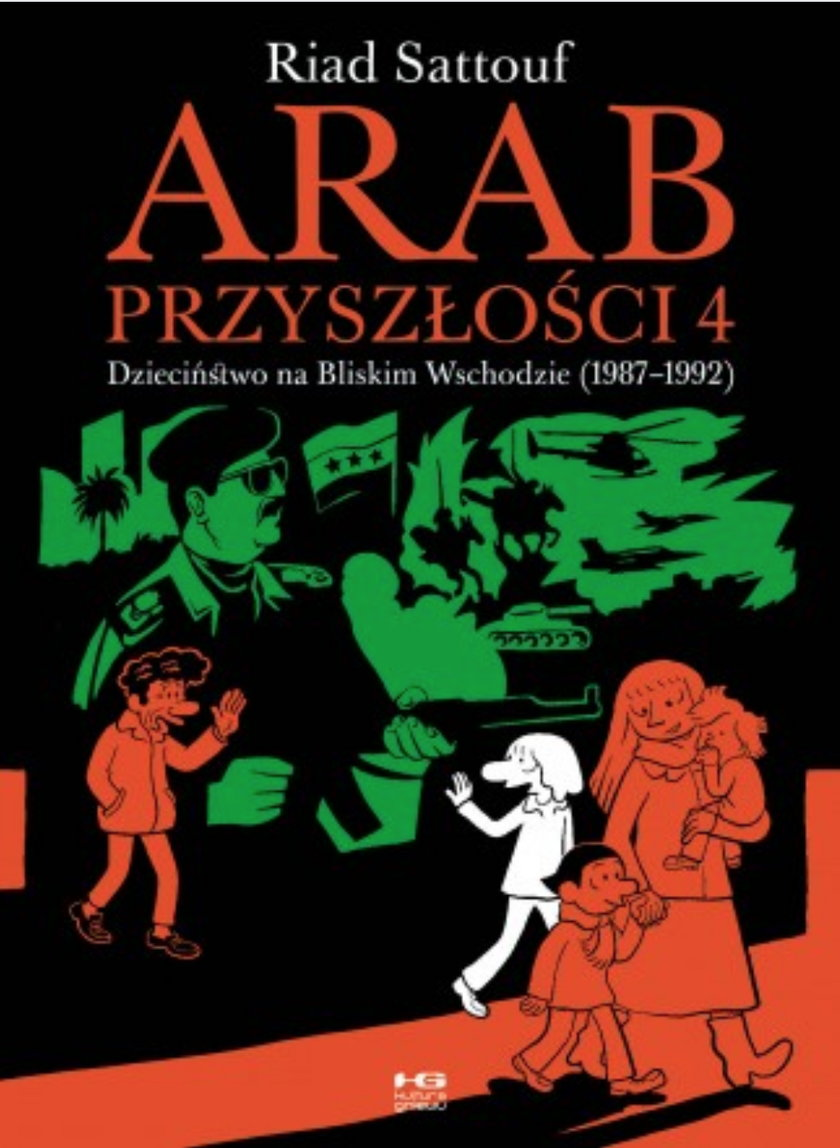 """""""Arab przyszłości 4. (1987-1992)"""". Okładka tomu 4."""