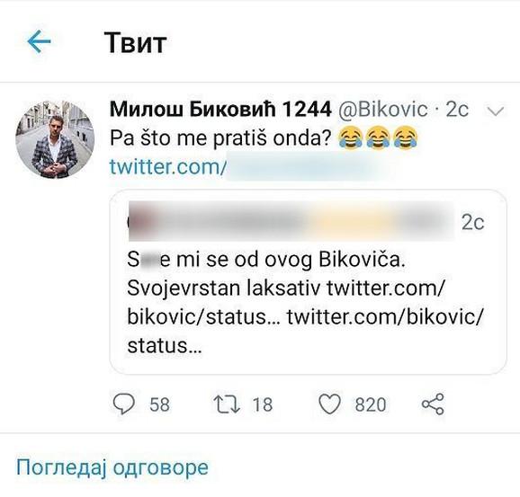 Miloš Biković - tviter