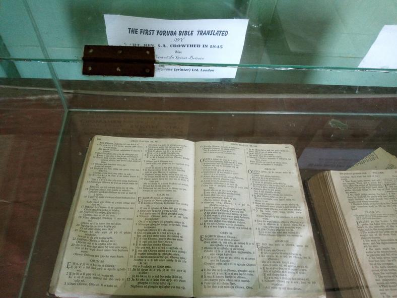 The first storey building in Nigeria has a Bible room dedicated to Bishop Crowther's Yoruba bible