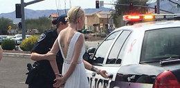 Zakuli ją w kajdanki tuż przed ślubem. Co takiego zrobiła?