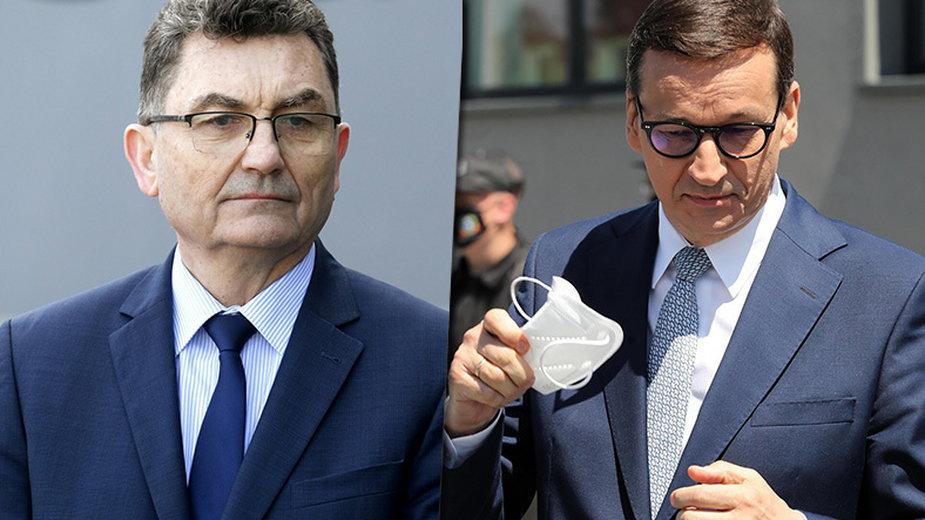 Od lewej: Cezariusz Lesisz, Mateusz Morawiecki (fot. East News, PAP)