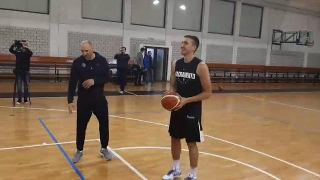 Bogdan i Datome na treningu Partizana