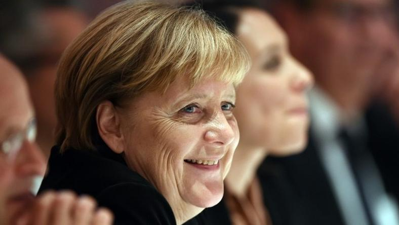 Chancellor Angela Merkel is a key target of the German launch issue of French satirical magazine Charlie Hebdo