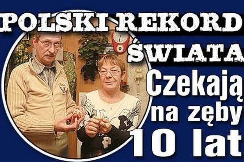 Polski rekord świata. Czekają na zęby 10 lat