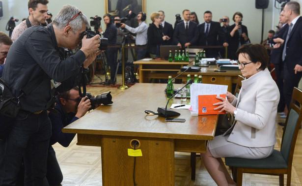 Ewa Kopacz przed komisją ds. VAT