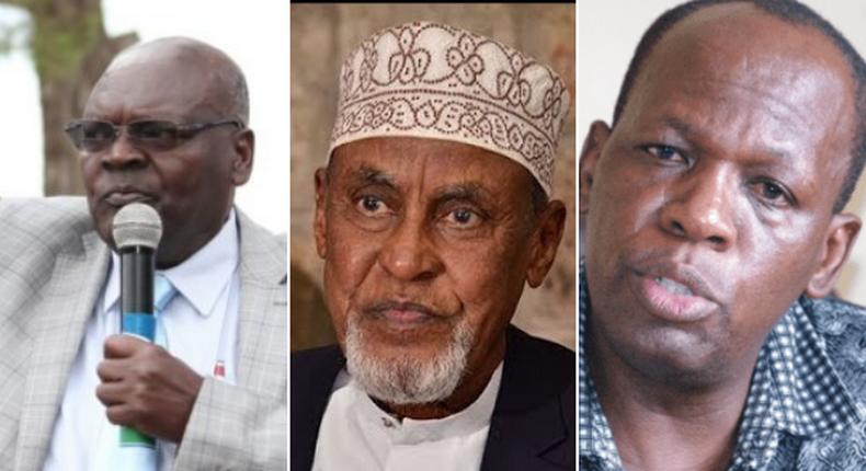 The late Oroo Oyioka, the late Yusuf Haji and the late Francis Waititu