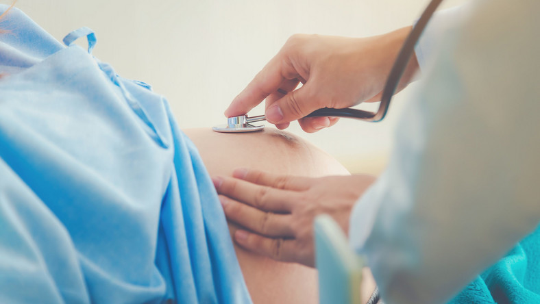 Badanie kobiety w ciąży