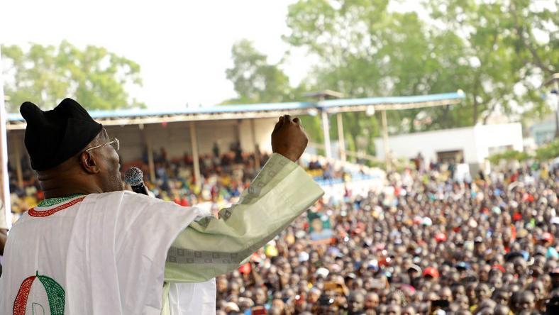 Atiku Abubakar at a campaign rally [Twitter/@atiku]