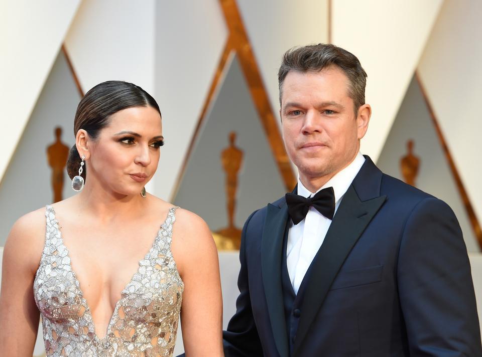 Matt Damon i Luciana Barosso