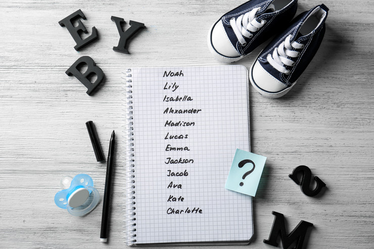stock-photo-composition-with-list-of-baby-names-in-notebook-on-wooden-background-703642630