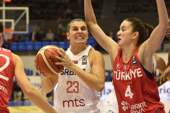 UŽIVO, SRBIJA - TURSKA Hala je EKSPLODIRALA kada je Ana Dabović napravila potez u STILU Jokića