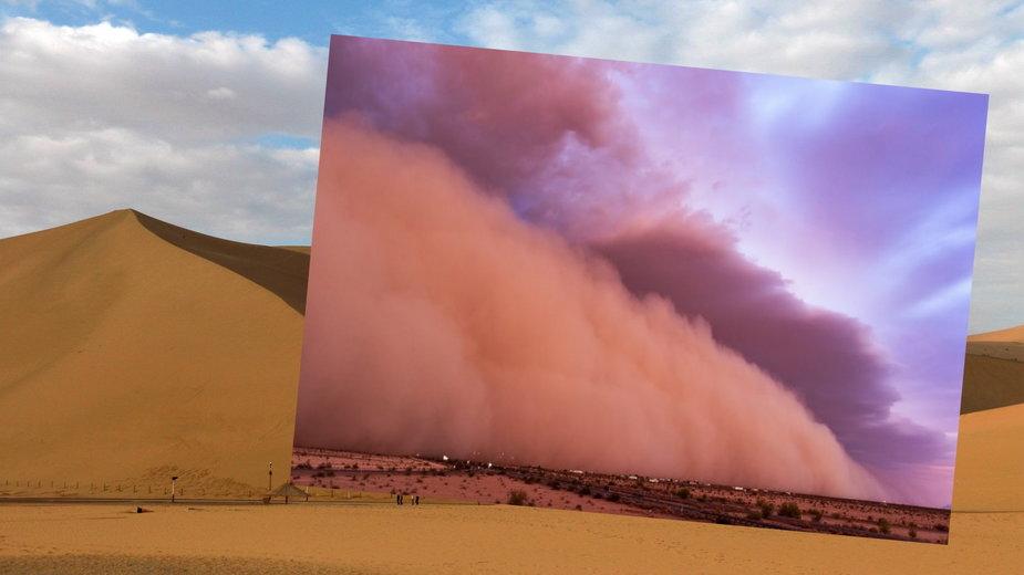Burza piaskowa w Dunhuang