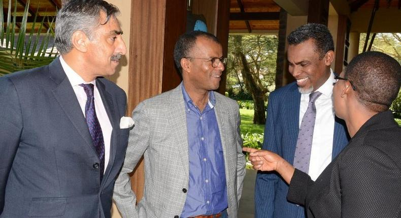A file photo of Queen's counsel Khawar Qureshi, lawyer Phillip Murgor, DPP Noordin Haji and deputy DPP Dorcas Odour