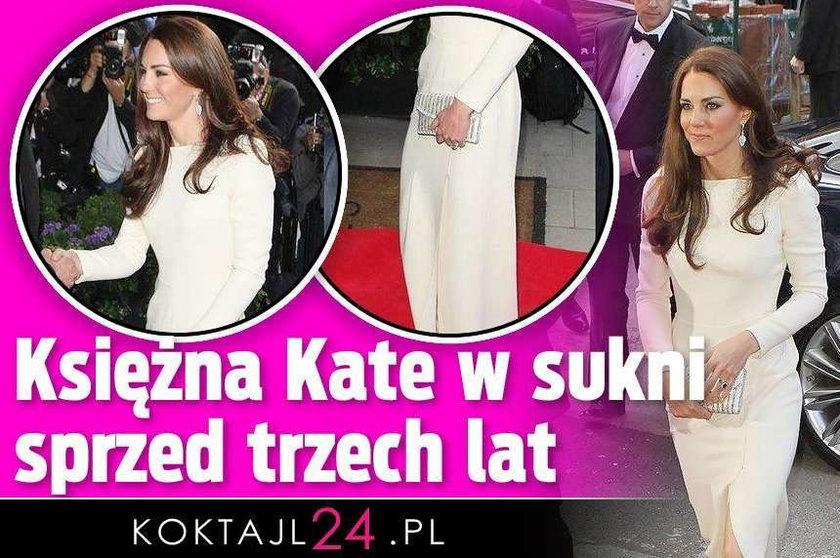 Księżna Kate w sukni sprzed trzech lat