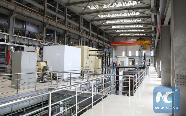 The interior of the Reppie waste-to-energy facility in Addis Ababa, Ethiopia.