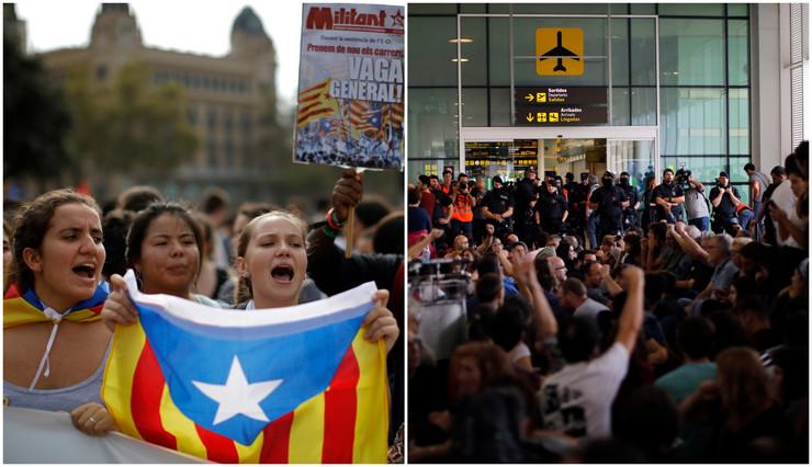 OTKAZANI BROJNI LETOVI! Barcelona: Policija se sukobila sa separatistima koji su blokirali aerodrom!