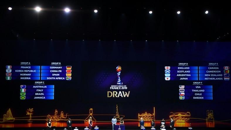 England and Scotland were placed in the same group as the women's 2019 World Cup draw took place in Boulogne-Billancourt just outside Paris on Saturday