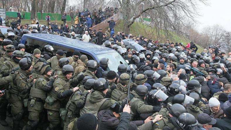 Protesty na ulicach Kijowa