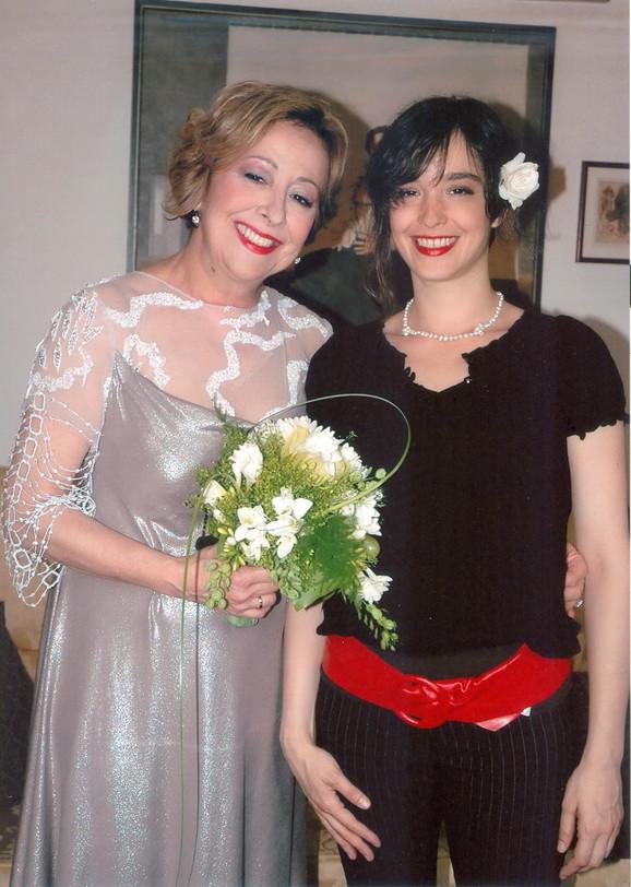 Sa ćerkom Katarinom