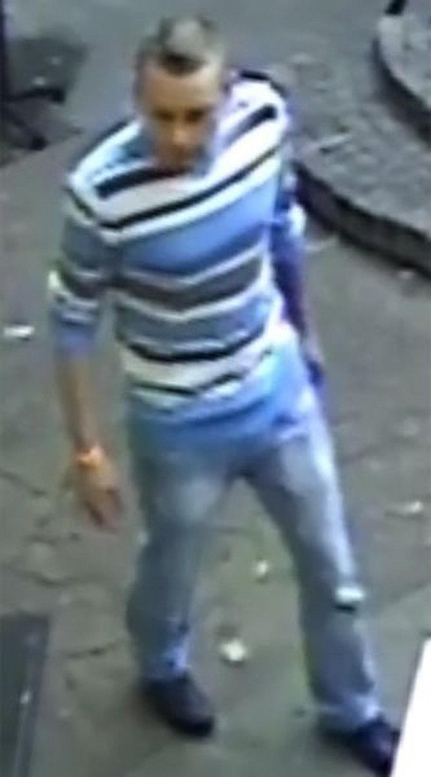 Zdjęcia z monitoringu mężczyzny, który pobił Brytyjczyka w Gdańsku