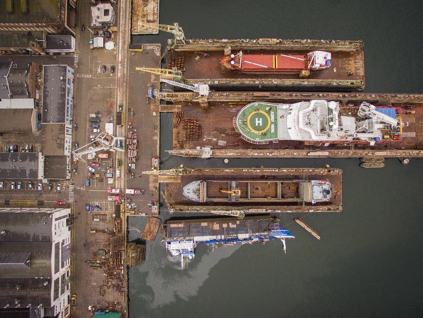 Groźny wypadek w stoczni Nauta w Gdyni