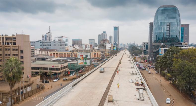 Nairobi Expressway contruction at Westlands