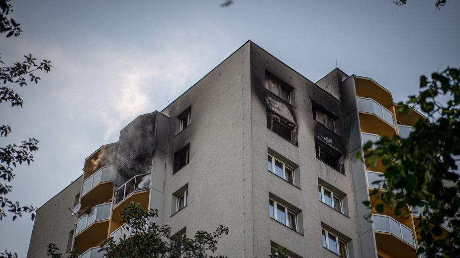 Blok, w którym doszło do tragicznego pożaru