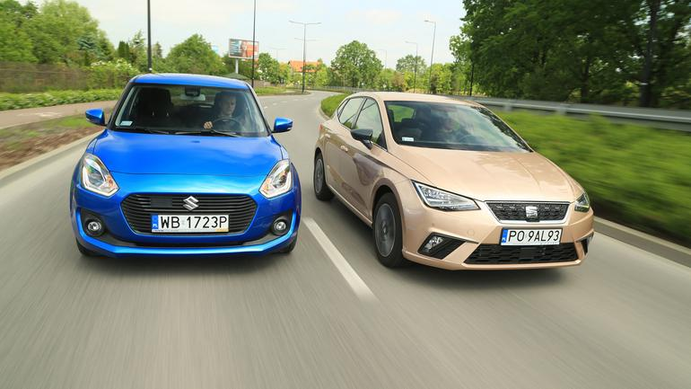 Seat Ibiza kontra Suzuki Swift - oba z miasta, ale z różnych dzielnic