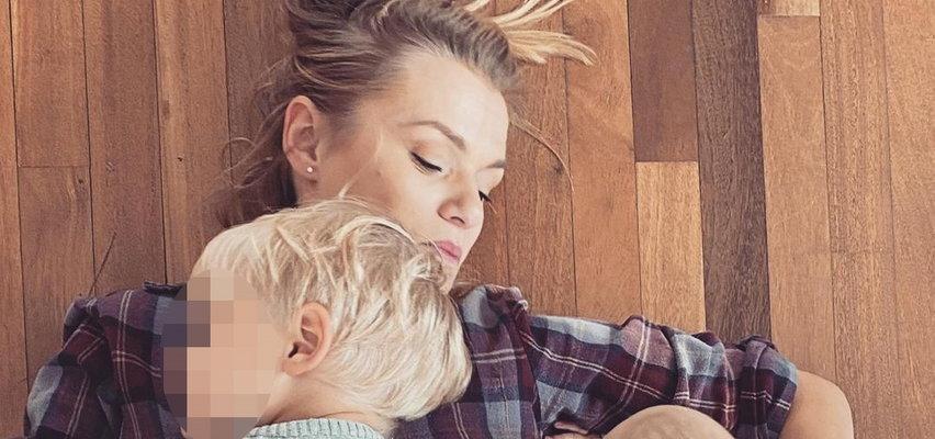 Emilia Komarnicka-Klynstra na zdjęciu z synami. To wyznanie wytrąciło ją z równowagi