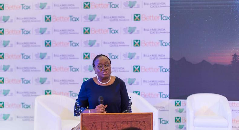 Dr Sarah Alade, Chairman, NESG Fiscal Policy Roundtable uring the launch of Citizen Perception Report at Oriental hotel, Lagos