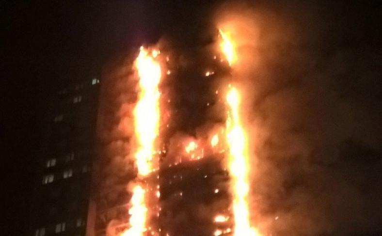Pożar apartamentowca w Londynie