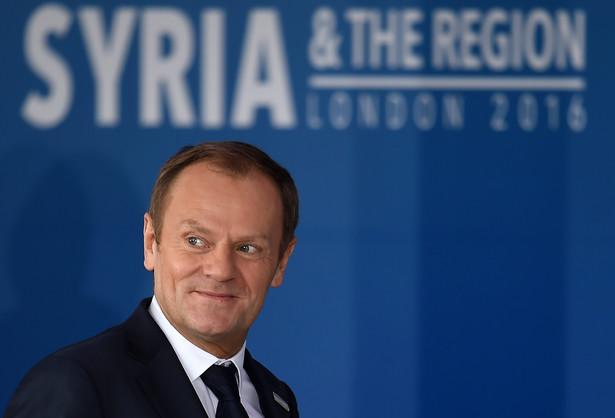 Donald Tusk podczas międzynarodowej konferencji 'Supporting Syria'