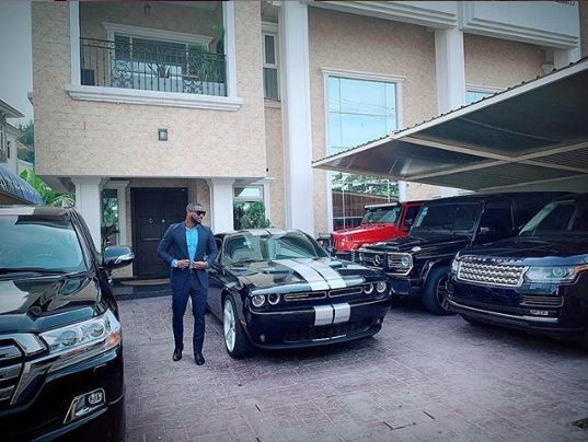 A look at Peter Okoye's exotic cars [Instagram/PeterPsquare]
