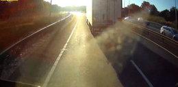 Kierowca polskiego tira zasnął za kółkiem? Brytyjczycy oburzeni