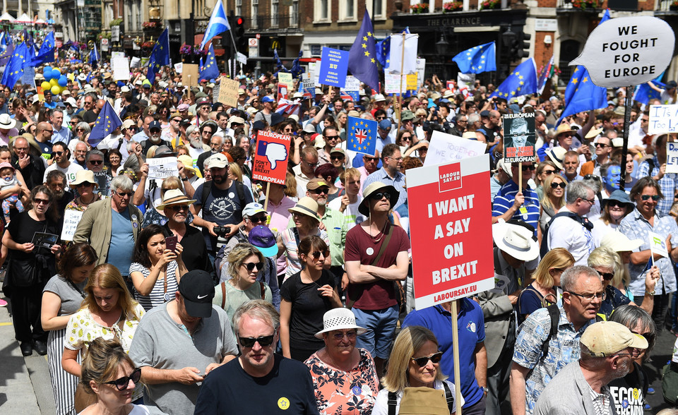 epa06833220 - BRITAIN BREXIT PEOPLE'S MARCH DEMONSTRATION (People's March Against Brexit)