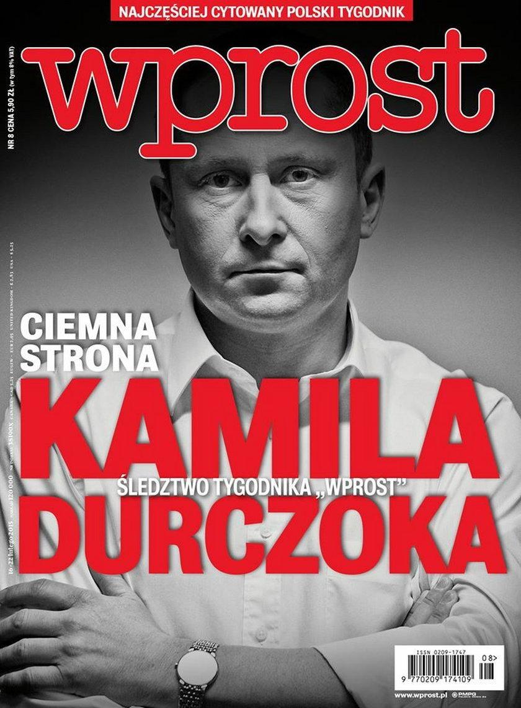 """Okładka """"Wprost"""" z Kamilem Durczokiem"""