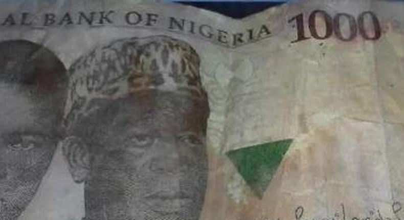 One of the counterfeit notes