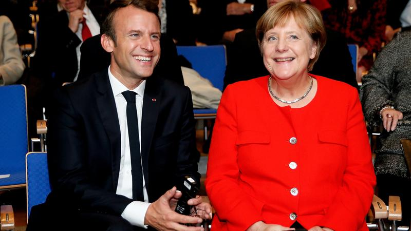 Frankfurt Book Fair 2017: Emmanuel Macron i Angela Merkel
