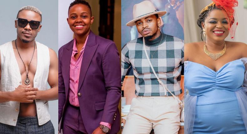 Alikiba, Makena Njeri, Diamond and Mwende Macharia