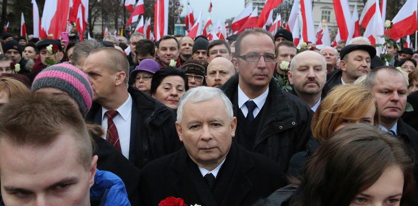 Kaczyński przyciągnął młodzież na swój marsz