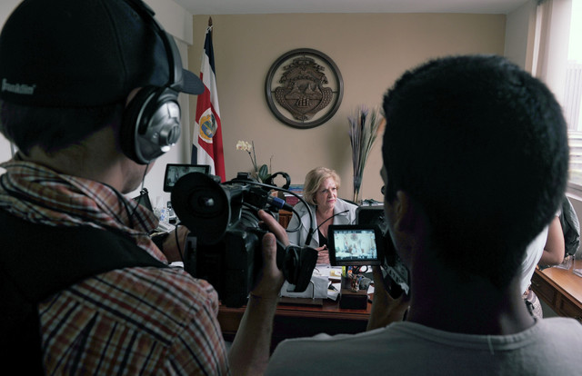 Ambasadorka Kostarike u Venecueli Nazaret Avendano na konferenciji za štampu povodom otmice diplomate